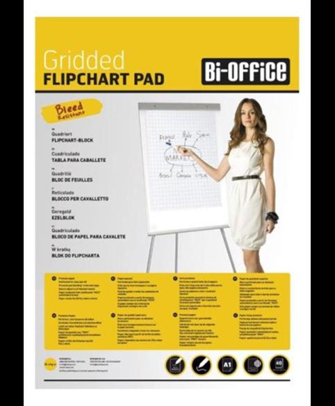Image 1 of Flipchart Pads - Standard Flipchart Pad Gridded