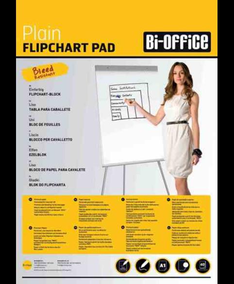 Image 1 of Flipchart Pads - Premium Flipchart Pad Plain